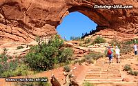 stairs to rock arch